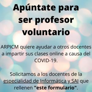 formulario ayuda profesor voluntario